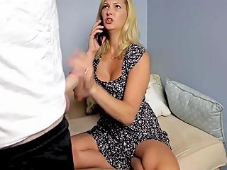 Stepmom Stepson Affair 99 Your Dad Is On Phone Porn 32