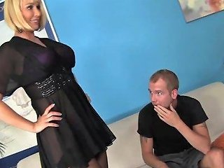 9654 Blonde Milf Mellanie Monroe Fucks Step Sons Huge Cock And Tastes Cum
